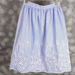 H&M Eyelet Skirt
